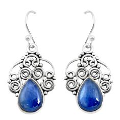 925 sterling silver 6.57cts natural blue kyanite dangle earrings jewelry p52288