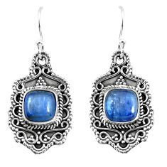 925 sterling silver 7.13cts natural blue kyanite dangle earrings jewelry p52744