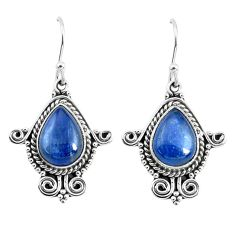 925 sterling silver 7.40cts natural blue kyanite dangle earrings jewelry p52872