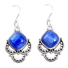 925 sterling silver 8.44cts natural blue kyanite dangle earrings jewelry p58236