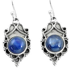 925 sterling silver 7.13cts natural blue kyanite dangle earrings jewelry p58289