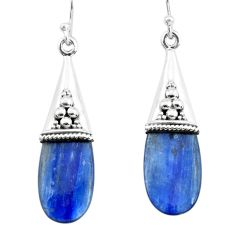 925 sterling silver 11.65cts natural blue kyanite dangle earrings jewelry p66474