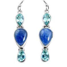 925 sterling silver 15.16cts natural blue kyanite topaz dangle earrings p57384
