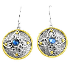 925 sterling silver 2.07cts natural blue labradorite dangle earrings p37739