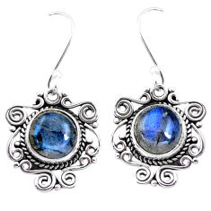 925 sterling silver 8.80cts natural blue labradorite dangle earrings p41394