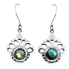 925 sterling silver 3.01cts natural blue labradorite dangle earrings p41439