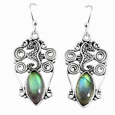 925 sterling silver 10.31cts natural blue labradorite dangle earrings p58374