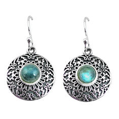 925 sterling silver 2.69cts natural blue labradorite dangle earrings p63876