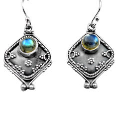 925 sterling silver 2.91cts natural blue labradorite dangle earrings p81337