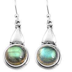 925 sterling silver 10.78cts natural blue labradorite dangle earrings p85633