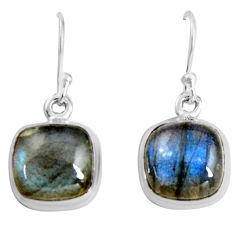 925 sterling silver 10.76cts natural blue labradorite dangle earrings p89340