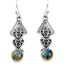 925 sterling silver 2.60cts natural blue labradorite dangle earrings p91391