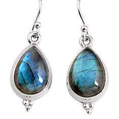 925 sterling silver 10.80cts natural blue labradorite dangle earrings p91611