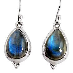 925 sterling silver 10.72cts natural blue labradorite dangle earrings p91614