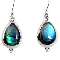 925 sterling silver 10.80cts natural blue labradorite dangle earrings p91629