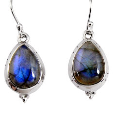925 sterling silver 10.37cts natural blue labradorite dangle earrings p91633