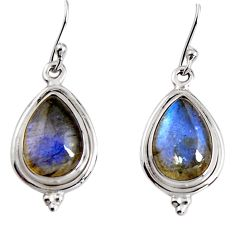 925 sterling silver 10.02cts natural blue labradorite dangle earrings p91636