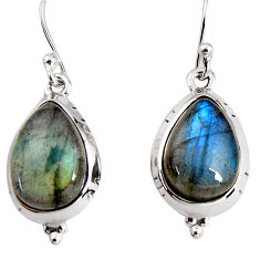 925 sterling silver 10.84cts natural blue labradorite dangle earrings p91640