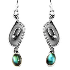 925 sterling silver 2.74cts natural blue labradorite dangle earrings p92758