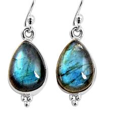 925 sterling silver 8.51cts natural blue labradorite dangle earrings p92792