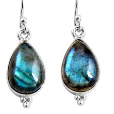 925 sterling silver 8.87cts natural blue labradorite dangle earrings p92796