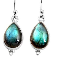 925 sterling silver 8.84cts natural blue labradorite dangle earrings p92800