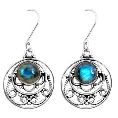 925 sterling silver 6.85cts natural blue labradorite earrings jewelry p41332
