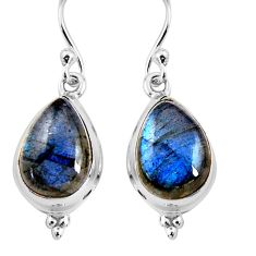 925 sterling silver 11.53cts natural blue labradorite earrings jewelry p92804