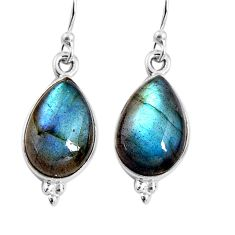 925 sterling silver 9.00cts natural blue labradorite earrings jewelry p92808