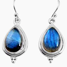 925 sterling silver 11.57cts natural blue labradorite earrings jewelry p92811