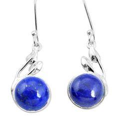 925 sterling silver 10.76cts natural blue lapis lazuli dangle earrings p32527