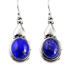 925 sterling silver 10.81cts natural blue lapis lazuli dangle earrings p91500