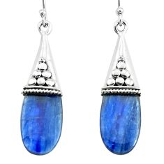 925 sterling silver 11.05cts natural blue owyhee opal dangle earrings p66444