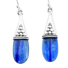 925 sterling silver 10.48cts natural blue owyhee opal dangle earrings p66451
