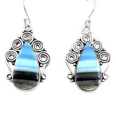 925 sterling silver 17.42cts natural blue owyhee opal dangle earrings p72718
