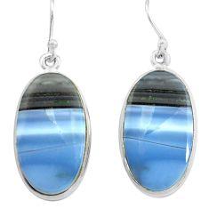 925 sterling silver 22.02cts natural blue owyhee opal dangle earrings p72779