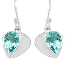 925 sterling silver 5.86cts natural blue topaz dangle earrings jewelry p82310