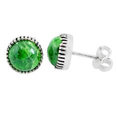 925 sterling silver 5.39cts natural green chrome diopside stud earrings p45299