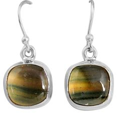 925 sterling silver 9.37cts natural multi color fluorite dangle earrings p89320