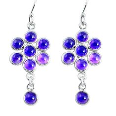 Clearance Sale- 925 sterling silver 11.20cts natural purple amethyst dangle earrings d31614