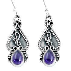 925 sterling silver 3.18cts natural purple amethyst dangle earrings p60173