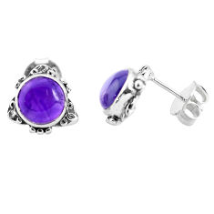925 sterling silver 5.51cts natural purple amethyst stud earrings jewelry p35594