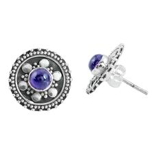 925 sterling silver 1.61cts natural purple amethyst stud earrings jewelry p64044