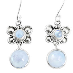925 sterling silver 11.27cts natural rainbow moonstone dangle earrings p51551
