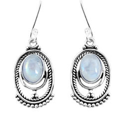 925 sterling silver 4.18cts natural rainbow moonstone dangle earrings p58409
