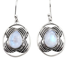 925 sterling silver 5.75cts natural rainbow moonstone dangle earrings p88457