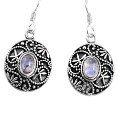 925 sterling silver 3.53cts natural rainbow moonstone earrings jewelry d32575