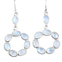 925 sterling silver 12.05cts natural rainbow moonstone earrings jewelry p92684