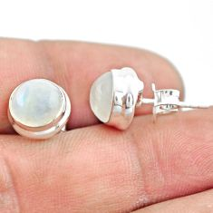 925 sterling silver 6.64cts natural rainbow moonstone stud earrings p74570