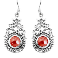 925 sterling silver 5.30cts natural red garnet dangle earrings jewelry p34391